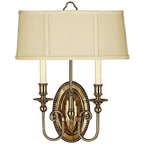 "Hinkley Cambridge 18""H Burnished Brass 2-Light Wall Sconce"