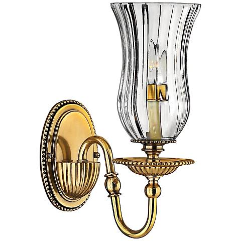 "Hinkley Cambridge 13"" High Burnished Brass Wall Sconce"