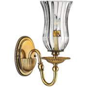 """Hinkley Cambridge 13"""" High Burnished Brass Wall Sconce"""