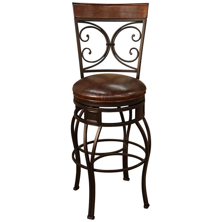 Pleasing American Heritage Treviso Pepper 34 Swivel Bar Stool Unemploymentrelief Wooden Chair Designs For Living Room Unemploymentrelieforg