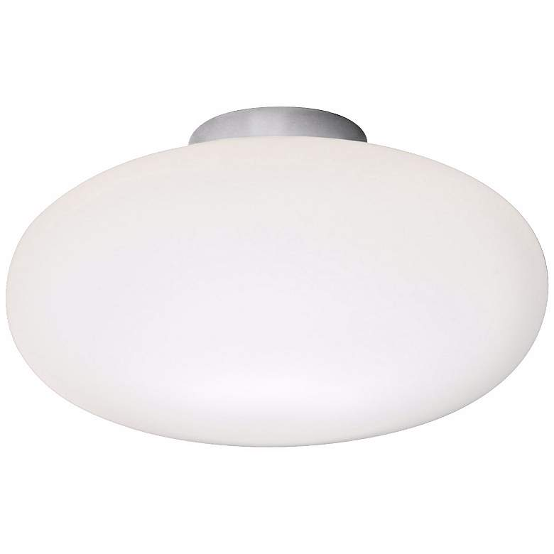 """Holtkoetter Satin Nickel 7 1/2"""" Wide Flush Ceiling Light"""