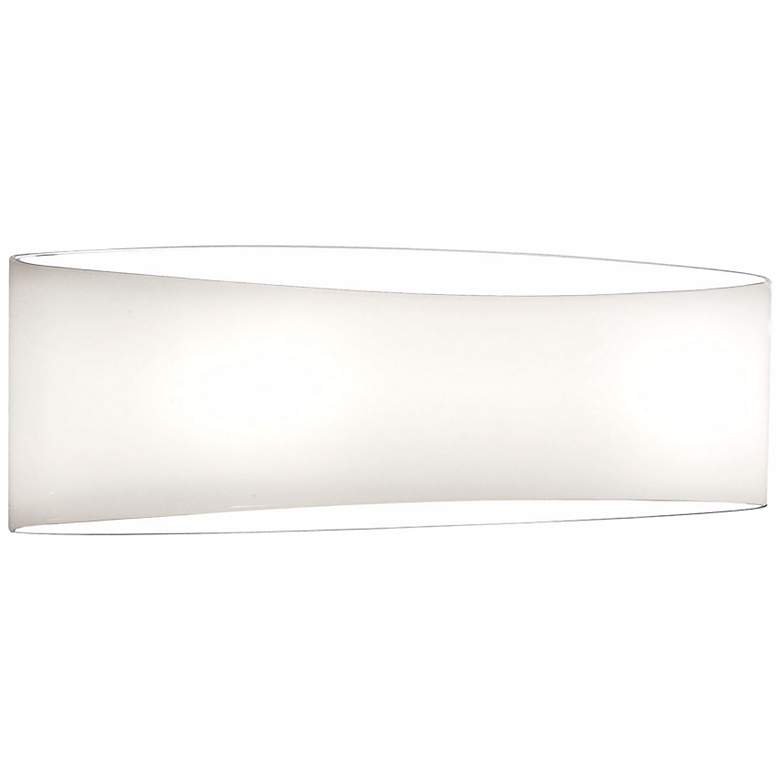 """Holtkoetter White Wrap 13 1/2"""" Wide Wall Sconce"""