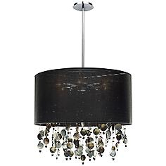 """Around Town Pearl and Black 24"""" Wide Pendant Chandelier"""