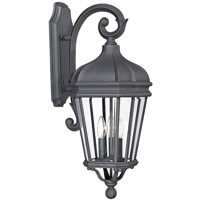 "Harrison 27 3/4"" High Black Outdoor Wall Light"