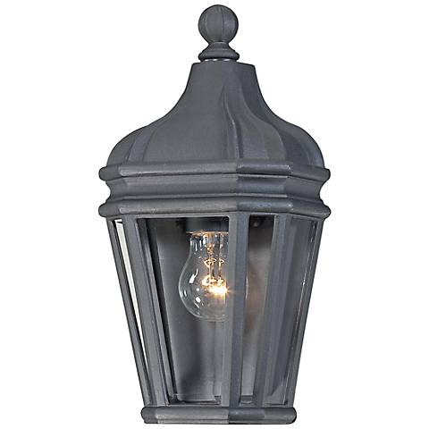 "Harrison 14 3/4"" High Black Outdoor Wall Light"