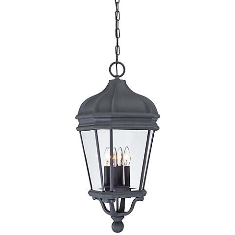 "Harrison 28 3/4"" High Black Hanging Outdoor Light"