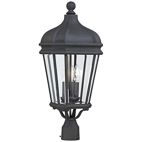 "Harrison 25"" High Black Outdoor Post Light"