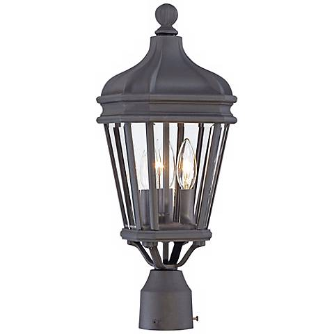 "Harrison 20"" High Vintage Black Outdoor Post Light"