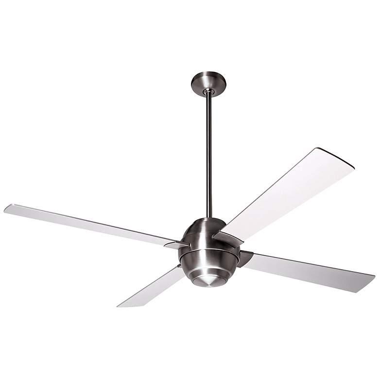 """56"""" Modern Fan Company Gusto Bright Nickel Ceiling Fan"""
