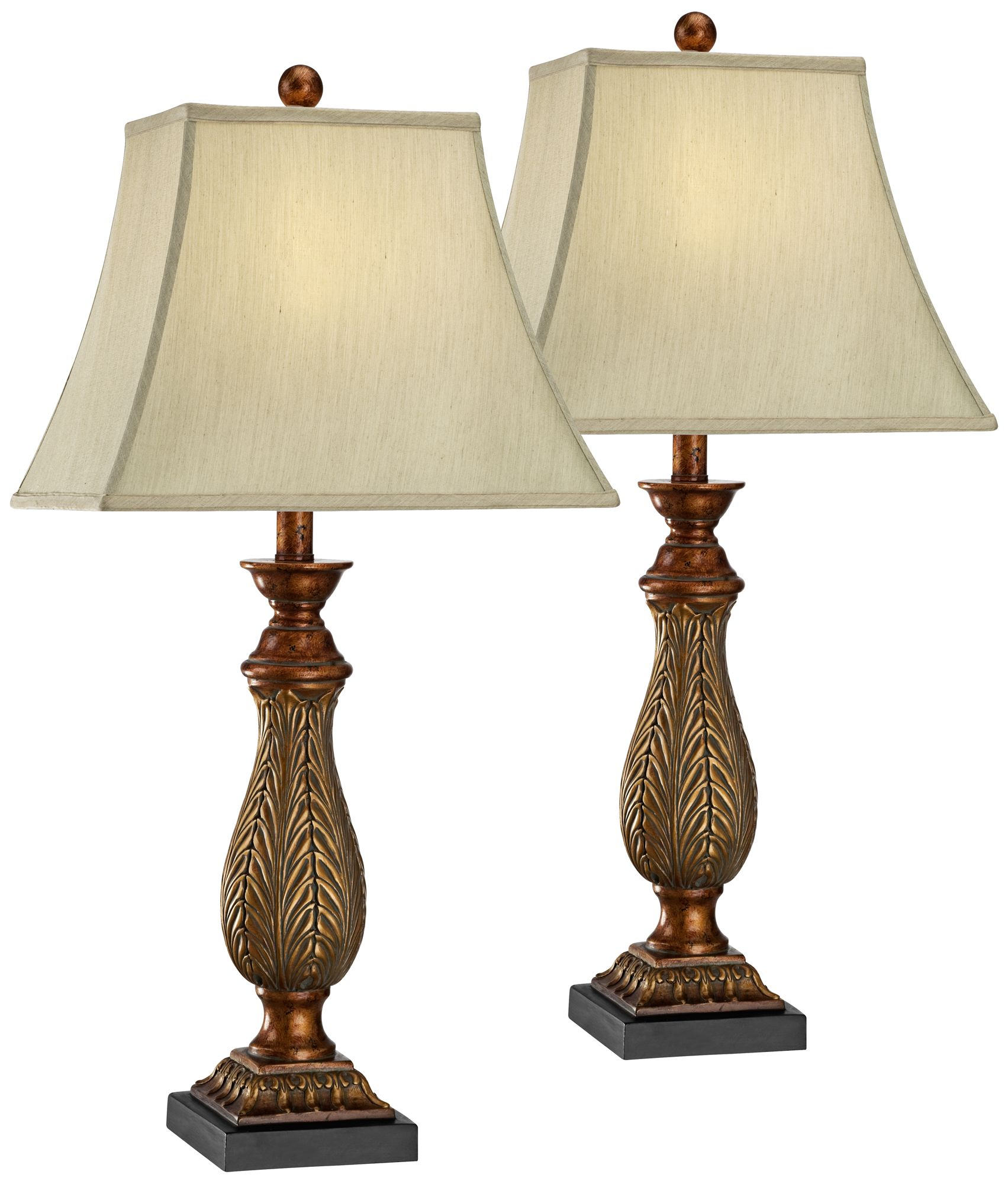 Genial Two Tone Gold Traditional Table Lamps Set Of 2