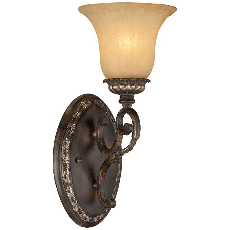 """San Marino Bronze and Gold 14 1/2"""" High Wall Sconce"""