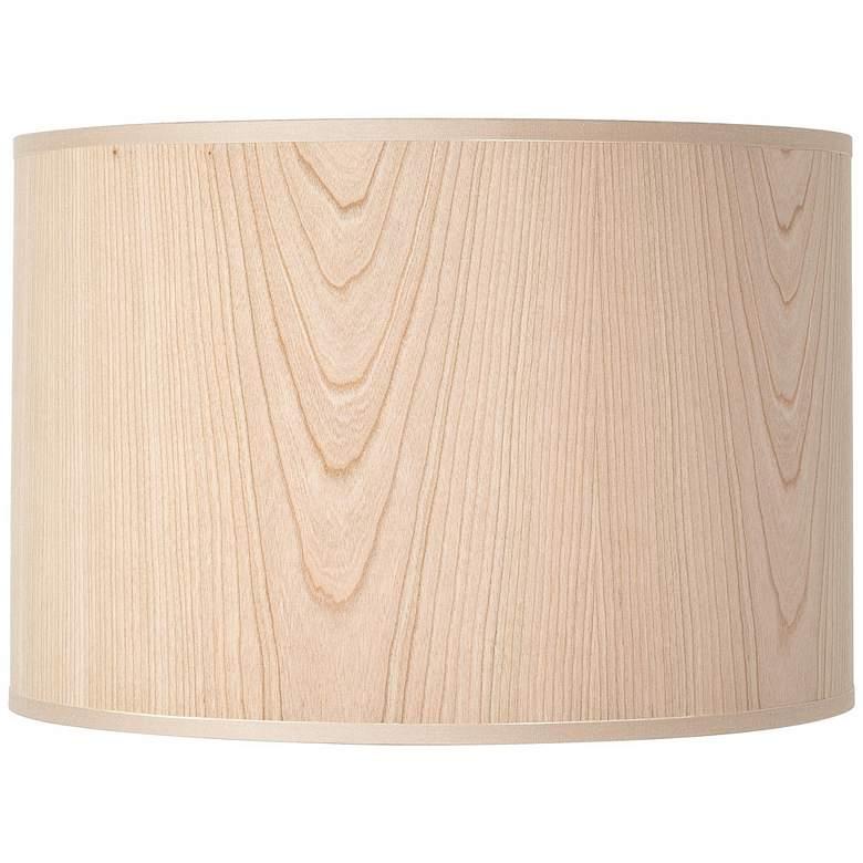 Lights Up Cherry Wood Veneer Lamp Shade 14x14x10 Spider U6006 Lamps Plus