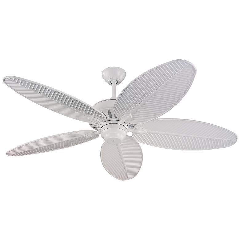 """52"""" Monte Carlo Cruise Wet Location White Ceiling Fan"""