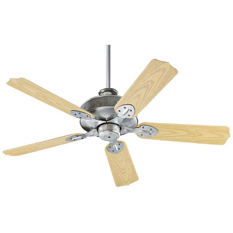 """52"""" Quorum Hudson Galvanized Patio Ceiling Fan"""