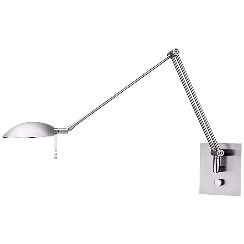 Holtkoetter Bernie Turbo Series Nickel Swing Arm Wall Lamp