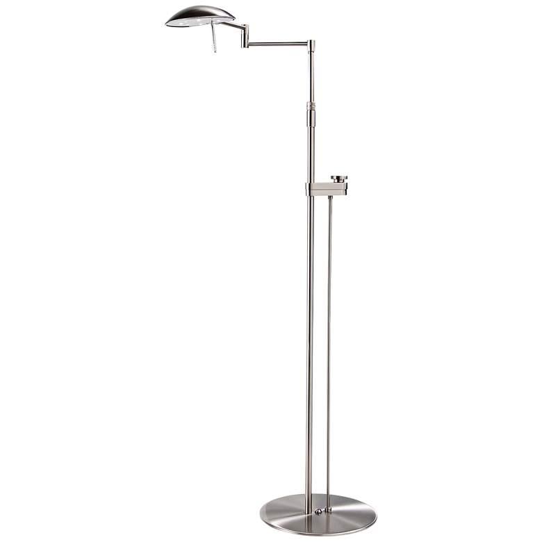 Satin Nickel Bernie Series LED Holtkoetter Floor Lamp