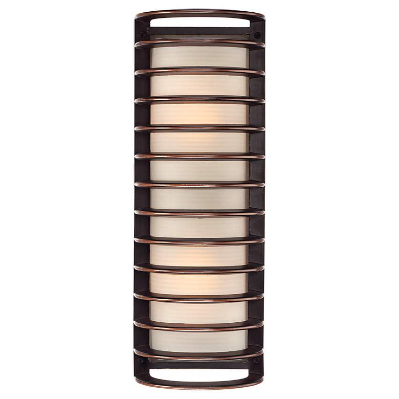 """John Timberland Bronze Grid 16 3/4"""" High Outdoor Wall Light"""