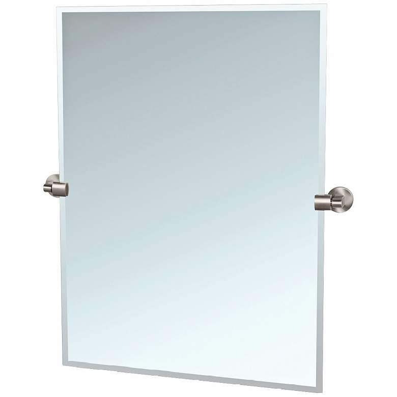 "Gatco Zone Satin Nickel 27 3/4 x 31 1/2"" Tilting Wall Mirror"