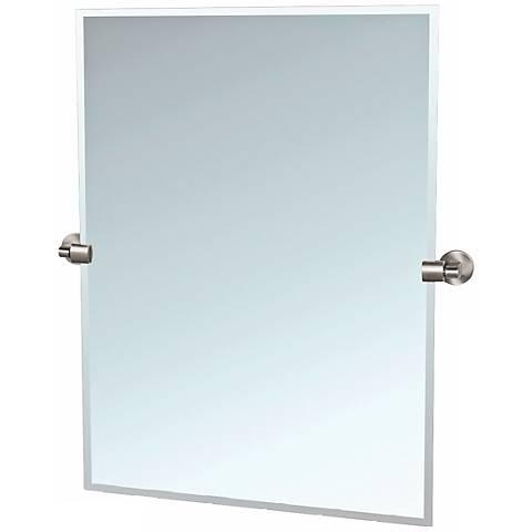 "Gatco 31 1/2"" High Satin Nickel Tilt Zone Wall Mirror"
