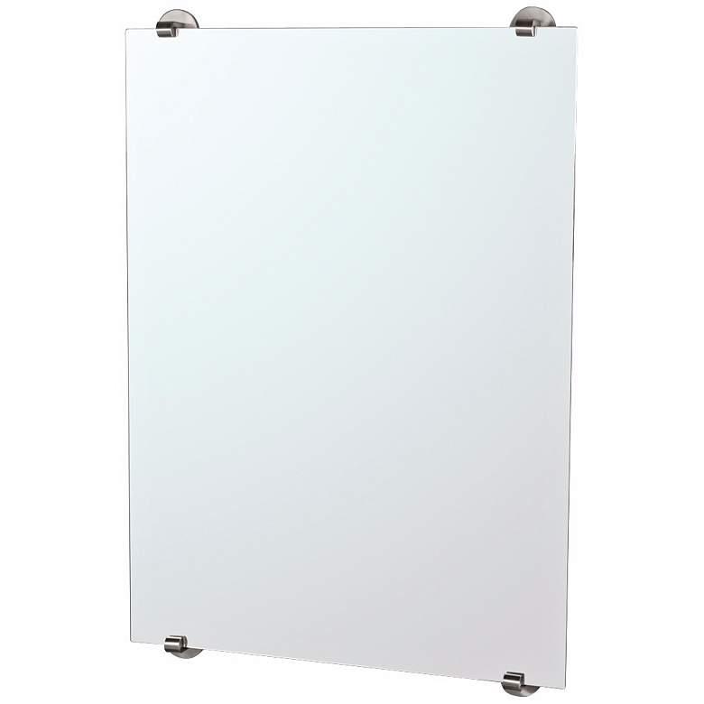 "Gatco Zone Minimalist Satin Nickel 22"" x 32"" Wall Mirror"
