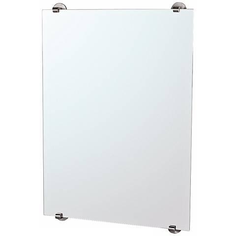 "Gatco Zone Minimalist Satin Nickel 32"" High Wall Mirror"