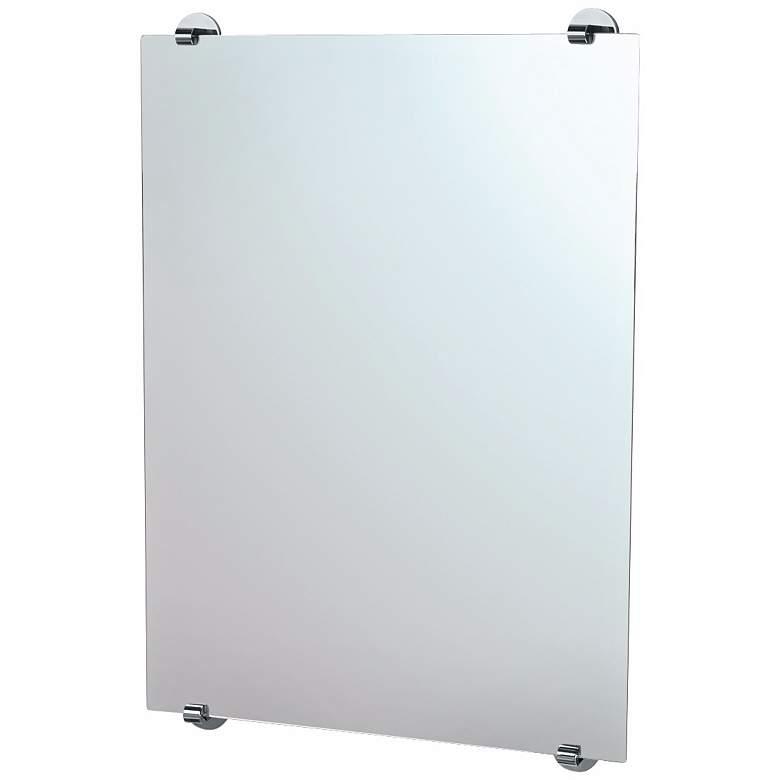 """Gatco Zone Minimalist Chrome 22"""" x 32"""" Wall Mirror"""
