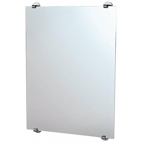 "Gatco Zone Minimalist Chrome 32"" High Wall Mirror"