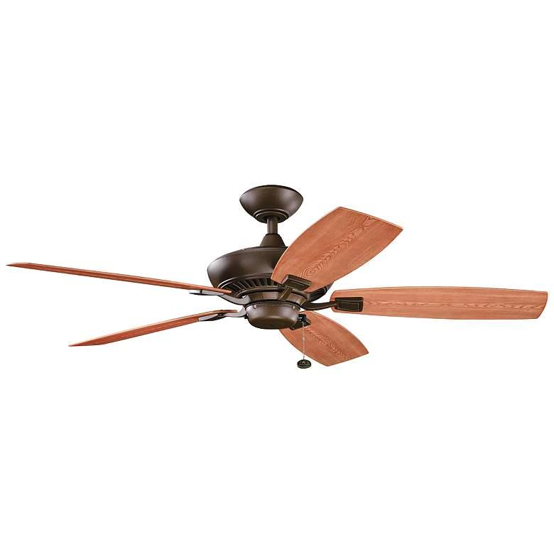 "52"" Canfield Patio Wet Tannery Bronze Ceiling Fan"