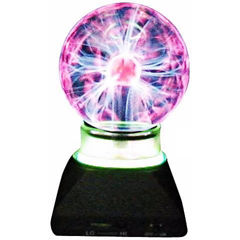 """Plasma Ball with Neon Ring 7 3/4"""" High Accent Lamp"""