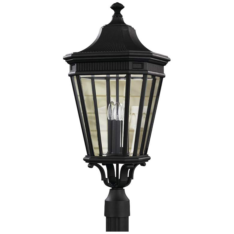 """Feiss Cotswold Lane 27 1/2""""H Black Outdoor Post Light"""