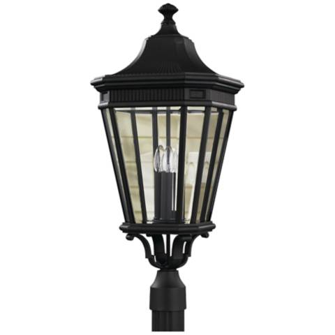 Feiss Cotswold Lane 27 1 2 Quot H Black Outdoor Post Light