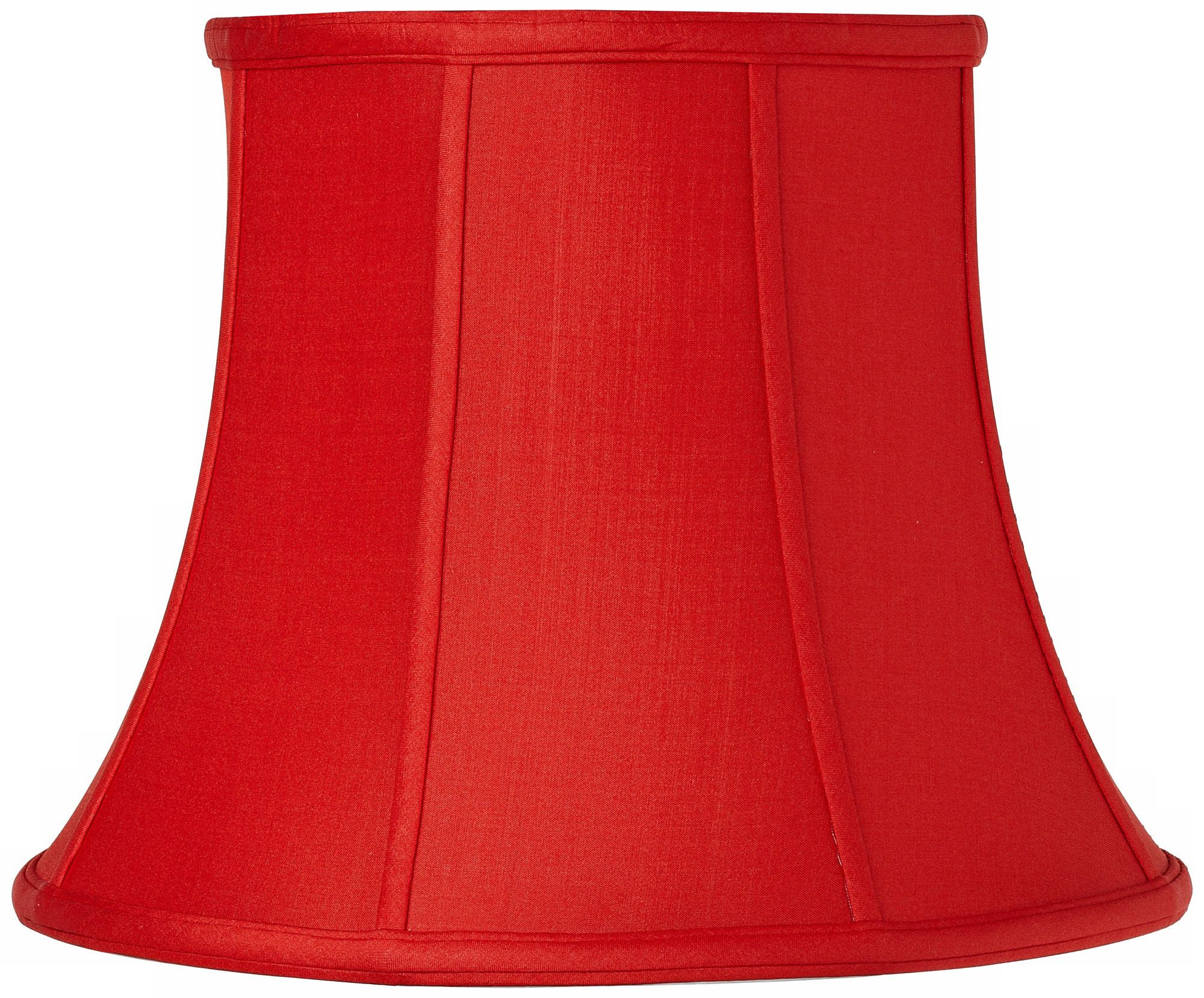 Red Silk Modified Bell Shade 9x14x11 (Spider)