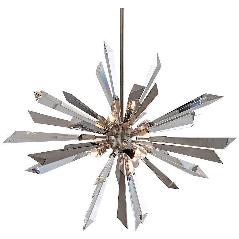 """Inertia 36"""" Wide Modern Starburst Crystal Chandelier"""