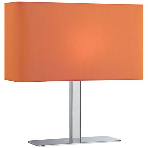 Lite Source Levon Orange Shade Rectangular Accent Table Lamp