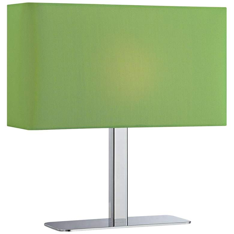 Lite Source Levon Lime Green Shade Rectangular Table Lamp