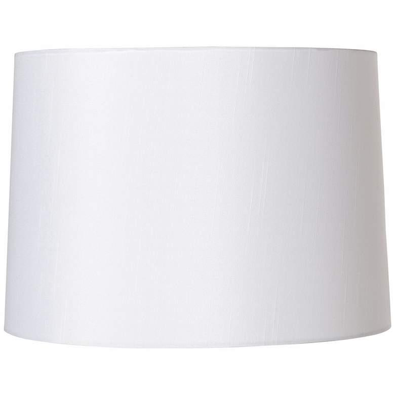 White Fabric Hardback Lamp Shade 13x14x10 (Spider)
