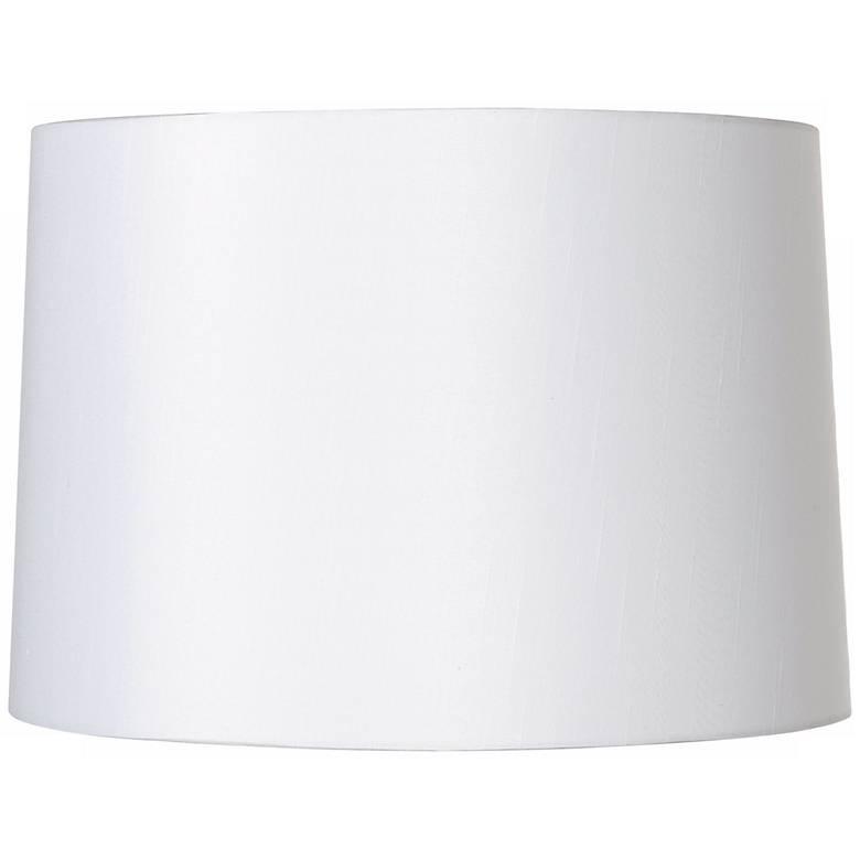 White Fabric Hardback Lamp Shade 15x16x11 (Spider)