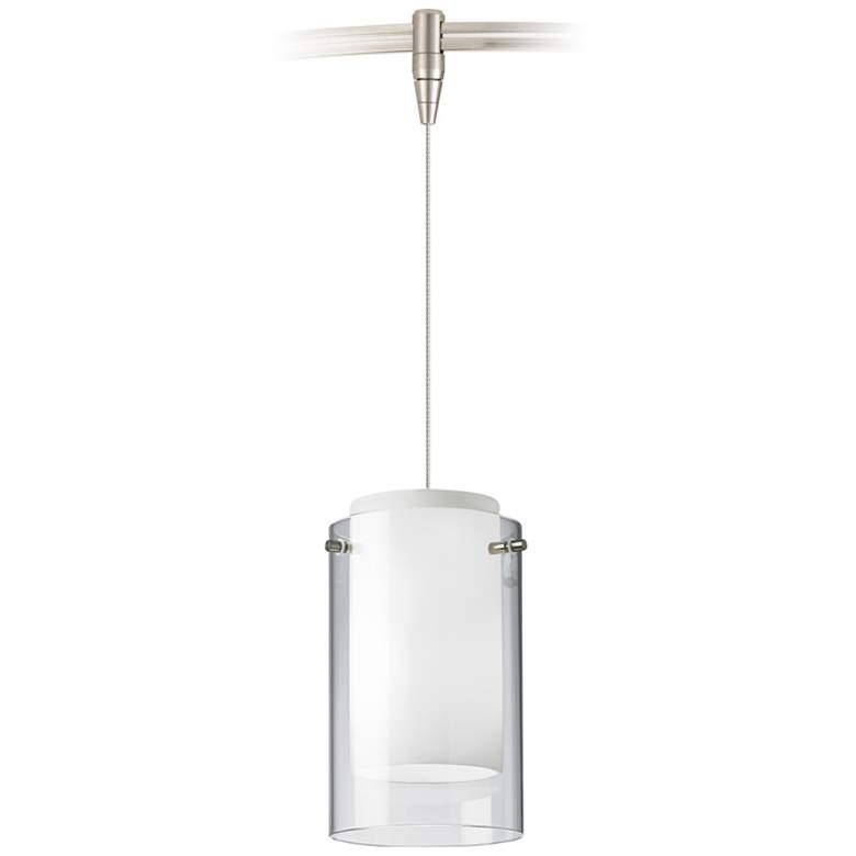 "Mini Echo 4"" Wide Satin Nickel LED Monorail Mini Pendant"
