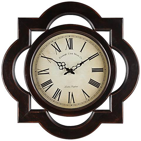 "Cooper Classics Lindsey Distressed 23 1/2"" Wide Wall Clock"