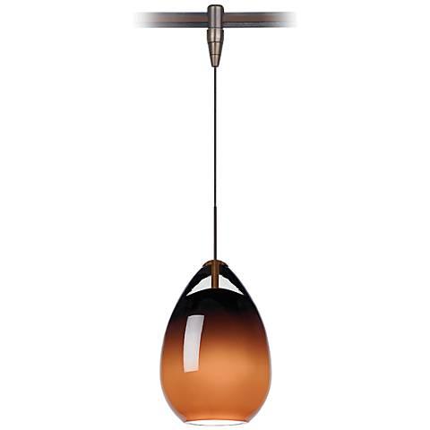 "Alina 4"" Wide Antique Bronze LED Monorail Mini Pendant"