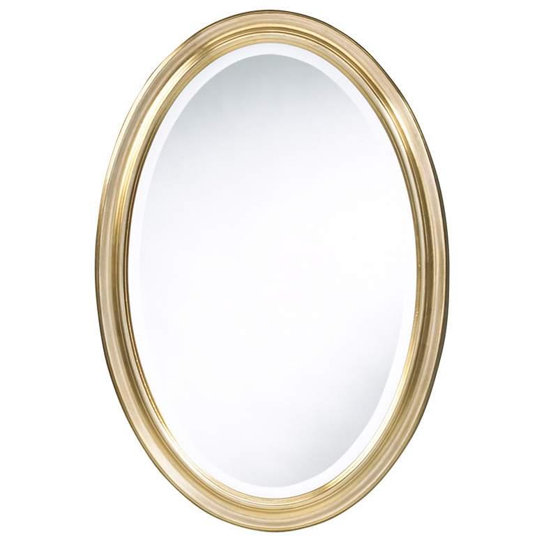 "Cooper Classics Gold Blake 31 1/2"" High Oval Wall Mirror"