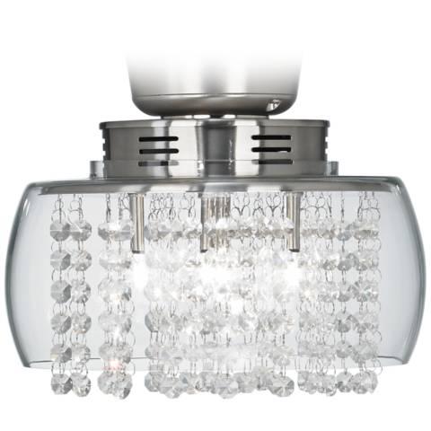 Possini Euro Design Crystal 11 Quot Round Ceiling Fan Light