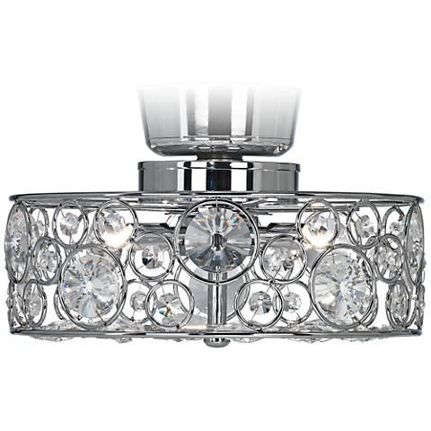 "Possini Euro Design Crystal 10"" Round Ceiling Fan Light Kit"