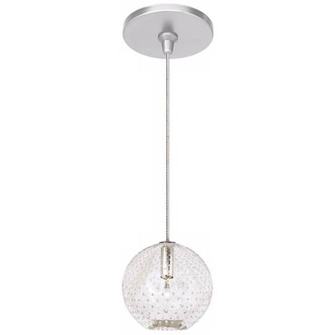 "LBL Bullé 4"" Wide Clear Nickel Globe Mini Pendant"