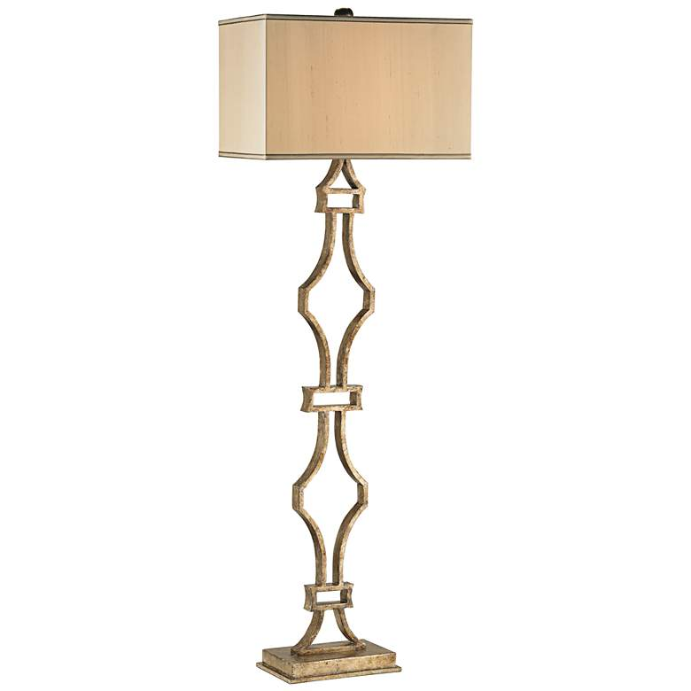 Currey and Company Eternity Silver Granello Floor Lamp