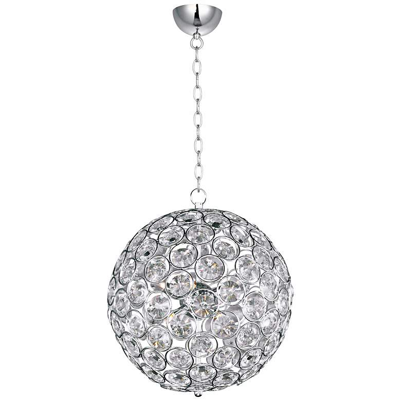 "ET2 Brilliant 16"" Wide 8-Light Round Crystal Pendant Light"