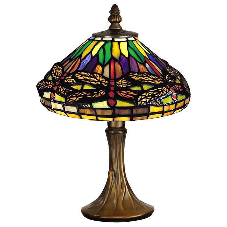 Antique Br Dale Tiffany Accent Lamp