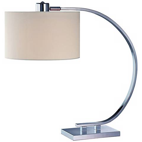 Axis Chrome with White Shade Lite Source Desk Lamp