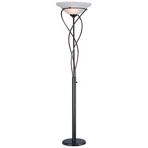 Lite Source Majesty Bronze Torchiere Floor Lamp