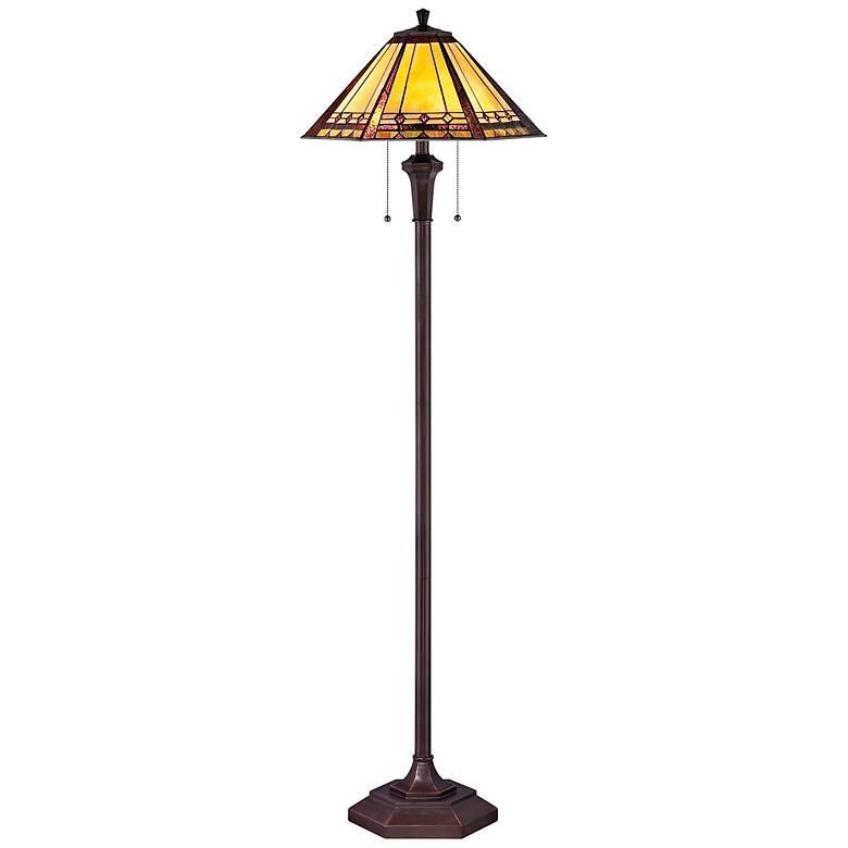 Quoizel Arden Tiffany-Style Floor Lamp